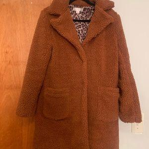 Cute cozy teddy coat